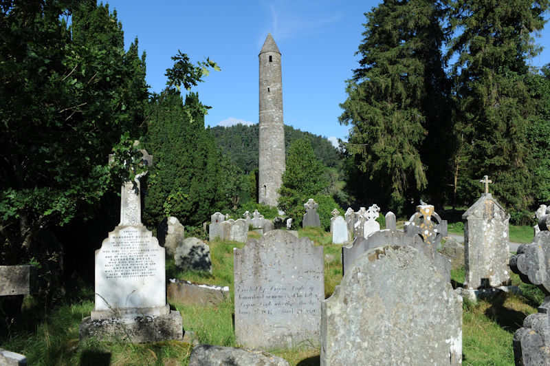 St. Kevin's church and tower, Glendalough, 07.2016